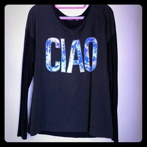 Long sleeve CIAO top